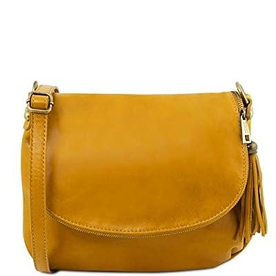 Tuscany Leather - TL Bag - Bolso en piel soave con borla y bandolera - TL141223