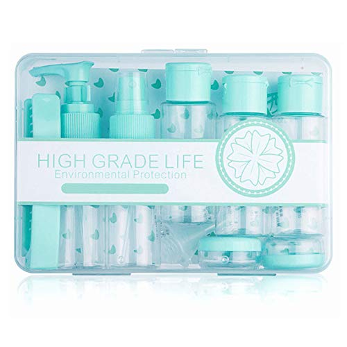 Tsa Approved Travel Toiletry Bottles Containers Kit (LEAKPROOF BPA FREE) Travel Accessories - 12 Pieces/Clear Case