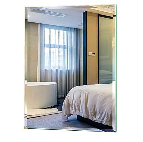 Specchi da Parete A Parete Vanity Specchi rettangolo Senza Telaio Bagno Specchio smussati Destro con Wall Hanging Hardware di Fissaggio per Bagno Bagno 5 Superficie