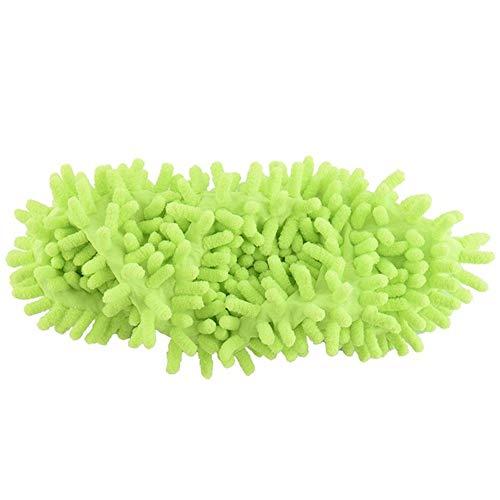 Bbye Multifunktionale Chenillefaser Waschbare Staubschuhe Hausschuhe Reinigung Schuhe Lazy Mop Schuhhaus Reinigungsabdeckung Schuhzehe GrünEinheitsgröße