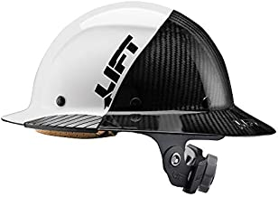 Lift Safety DAX Fifty 50 Carbon Fiber Full Brim Hardhat (White)