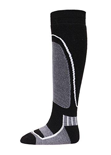Unisex Kids Skiing Socks Full Terry Lightweight Warm Merino Wool Snow Ski Socks