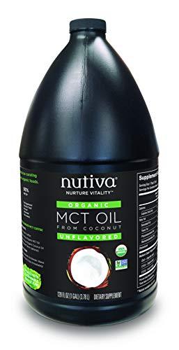 Nutiva Organic MCT Oil, Keto & Paleo Friendly, Unflavored, 1 Gallon