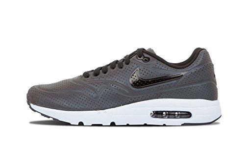 Nike Herren Air Max 1 Ultra Moire QS Laufschuhe, Grau Weiß Schwarz Tief Zinn Schwarz Schweinswal, 46 EU