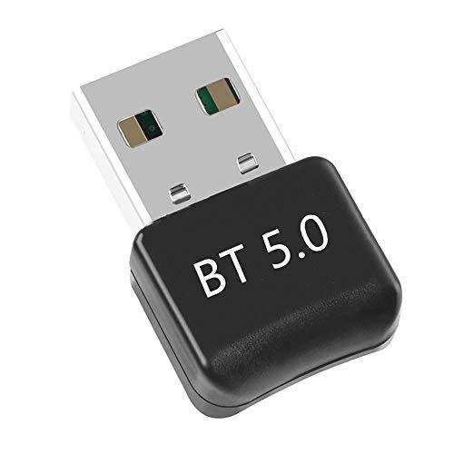 HAL Adaptador USB de Bluetooth 5.0, Bluetooth USB Dongle Transmisor y Receptor para PC Portatil con Windows 7/8/8.1/10, Compatible con Auricular/Altavoz/Ratón/Teclado, Plug & Play