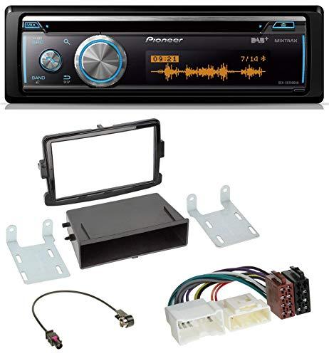 caraudio24 Pioneer DEH-X8700DAB MP3 DAB USB CD Bluetooth Autoradio für Dacia Dokker, Duster, Logan