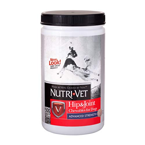 Nutri-Vet Advanced Strength Hip & Joint Supplement for Dogs | Formulated with Glucosamine & Chondroitin to Support Senior Dog Joint Health & Mobility | Senior Dog Arthritis Relief | Chewables 300 ct