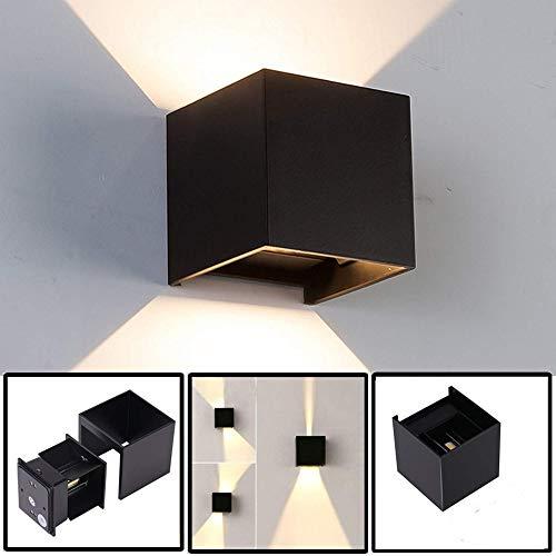 RAQ Dimbare moderne led-wandlamp met instelbare stralingshoek, eenvoudige vierkante led-wandlamp Dimmable 110V zwart