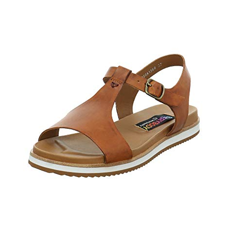 Everybody Damen Sadira Braune Glattleder Sandale Größe 38 EU Braun (Cuoio)