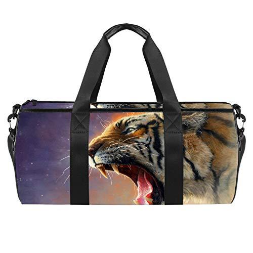 Dragon Sword Sly Tiger Designed Travel Duffel Bag Luggage Tote Bag Gym Sports Bag for Man Women
