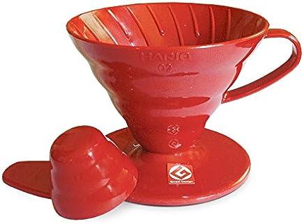 Coador de Café em Acrílico Vermelho Hario V60-02