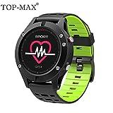 TOP-MAX IP67 - Reloj inteligente (resistente al agua, Bluetooth, 4,2 F5, GPS, altímetro, barómetro, termómetro)