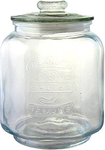 リビング 保存容器 キャニスター ガラス クッキージャー Sサイズ 目安容量約 3.0L 径16×高さ23cm クリア アーモンド