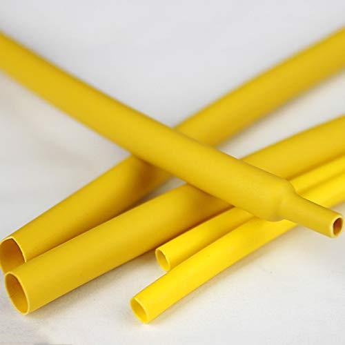 LEISHENT Tubo termorretráctil Envoltura de Alambre para Protección el Cable,Prevenir la corrosión del Metal etc Longitud: 10 m / 32,8 pies, Amarillo,8mm