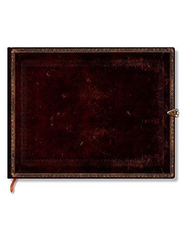 Faux Leder schwarzes Marokkoleder - Gästebuch Unliniert - Paperblanks