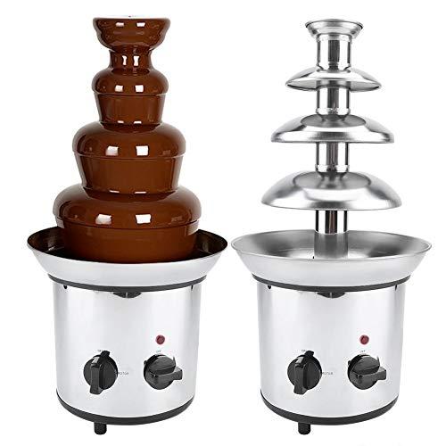 Victool Fontaine à Fondue au Chocolat, 4 Niveaux de Fonte de Chocolat électrique Machine à Fondue Fontaine EU Plug 220V
