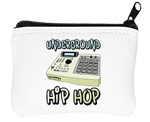 Underground Hip Hop Sampler Billetera con Cremallera Monedero Caratera