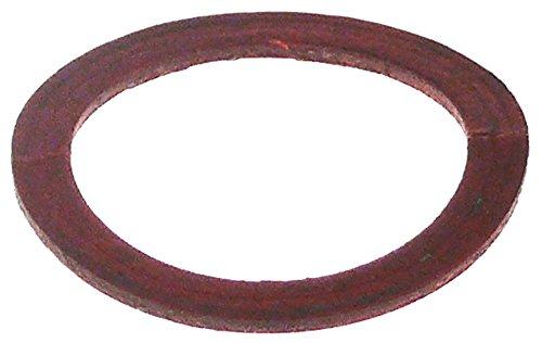 Bartscher platte afdichting voor friteuse A150207, A150107 voor aftapkraan buiten 32 mm D2 26 mm binnen 26 mm vezel materiaaldikte 1,5 mm