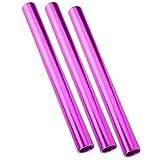 Keenso Bâton de Course de Relais, 3 pièces en Alliage d'aluminium bâton de Relais d'athlétisme bâton de Relais de Sport bâton de Course d'athlétisme bâton de Match de Sprint(Violet)