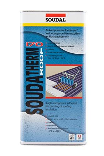 Soudal Soudatherm Roof 170, für die Verklebung von Dämmstoffen im Bereich Flach- und Gefälledach, beige, Inhalt: 2,2kg