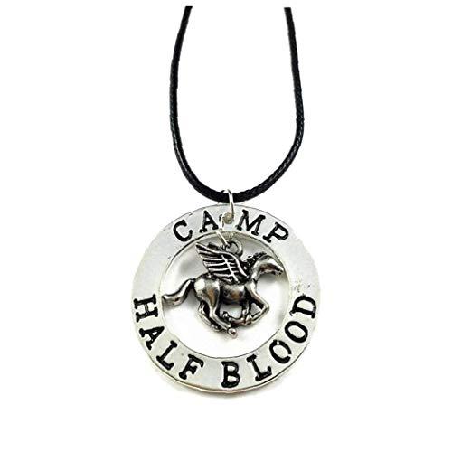 DINEGG 1pcs the Last Olympian Camp Half-blood Percy Pegasus Zeus Half Blood Necklace - Percy Pendant for Cool Unisex QQQNE