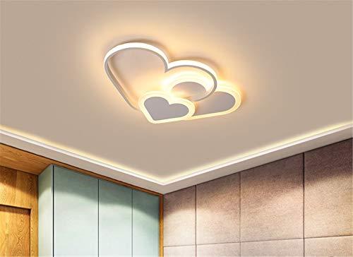 LHY LOFT Côté Glow LED Enfants Plafonnier,Enfants Chambre Plafonnier,Éclairage pour Enfants,Creative Heart Shaped Décoratif Lampes,Blanc,B:52CM38W