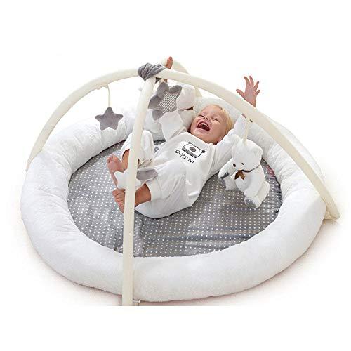 Frühe Bildung Super Soft Activity Gym & Spielmatte Baby Playmat Mit 6 Rasselspielzeug Geeignet von Geburt an für Neugeborene