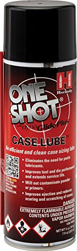 Hornady 9991 One Shot Spray Case Lube with DynaGlide Plus (5 fl Oz Aerosol),Red