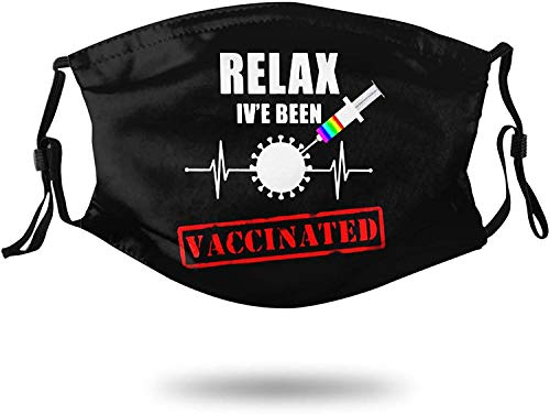 Relax I've Been Vaccinated Face Mask Washable Bandana Reusable Breathable Cotton Comfortable Windproof Mouth Guard Balaclava