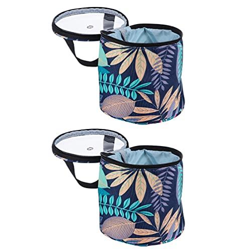 ARTIBETTER Confecção de Malhas Do Saco para Fios 2Pcs Sacola De Armazenamento de Armazenamento Oxford Pano Agulha De Tricô Fios de Mão- Held Saco de Crochê para O Transporte de Bolas De Fios