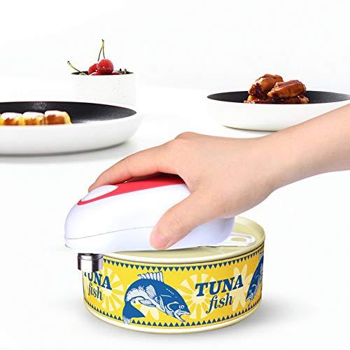 Yunjie Apriscatole Elettrico, Apri lattina Automatico Multifunzione a Pile Interruttore One Touch Bordo Pulito e Liscio per Persone anziane e individui affetti da artrite