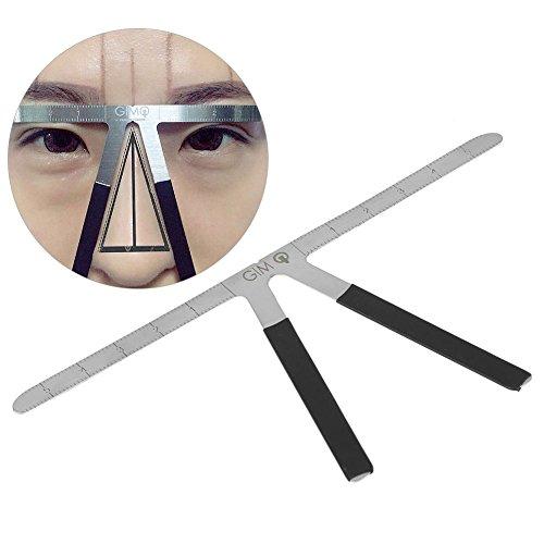 Augenbrauenlineal, wiederverwendbar, Microblading-Lineal für Augenbrauen, klebend, Führung, Schablone, Werkzeug zur Ausmessung bei Permanent-Make-up