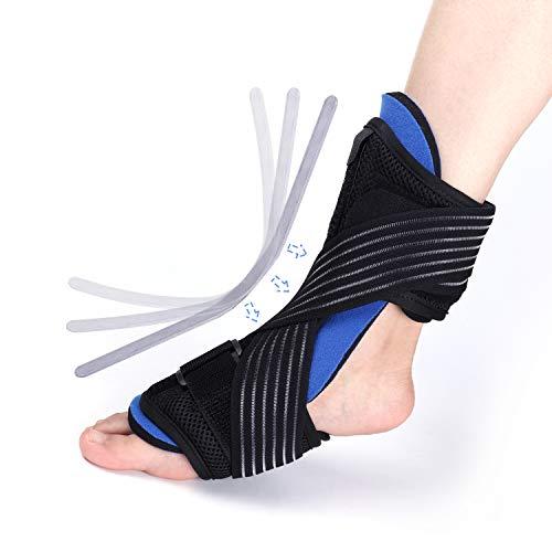 Thx4COPPER Plantar Fasciitis Night Splint –Dorsal Orthotic Foot Brace, Adjustable Compression Elastic Strap– Best Support for Ankle Pain Relief, Achilles Tendonitis, Drop Foot, Heel–Men/Woman