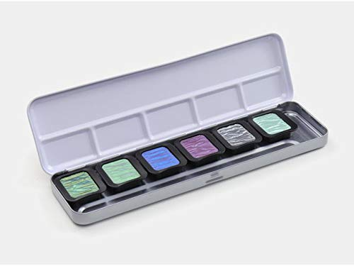 Finetec, Artist Pearlescent, F0602, Watercolor Paint, Assorted Pearlescent Colors - 6 Color Set