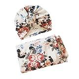 NUOBESTY Neugeborene erhalten Decke Stirnband Set Baby Wickeldecken Gala Bloomer (weiß)