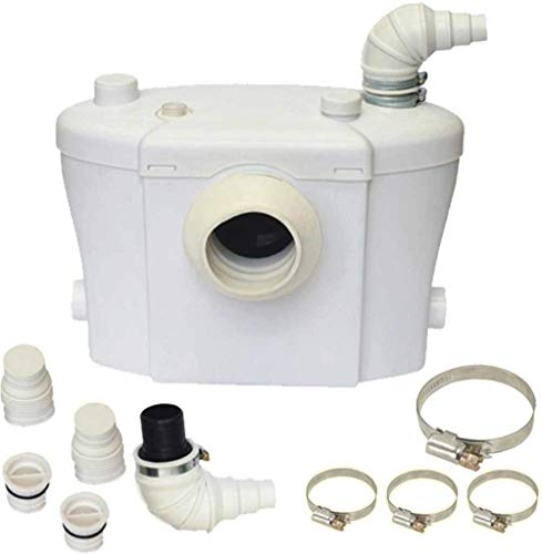 Trituratore Maceratore per WC con FILTRO Antiodore & Silenzioso Lame in Acciaio Inox - 3 allacci disponibili