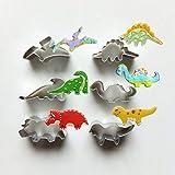 CHANG CHANGYONGXINUnique Store Cortadores Galletas Dinosaurio, 6 Piezas Molde Galletas Dinosaurios para Niños Dinosaurios Tematica Cumpleaños Decoracion