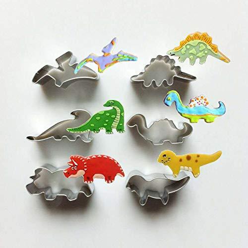 CHANG CHANGYONGXINUnique Store Cortadores Galletas Dinosaurio, 6 Piezas Molde Galletas Dinosaurios para...