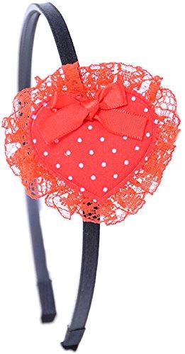 Unbekannt Cute Polka Punkte Dots Herz Heart HAARREIF - RED Rockabilly
