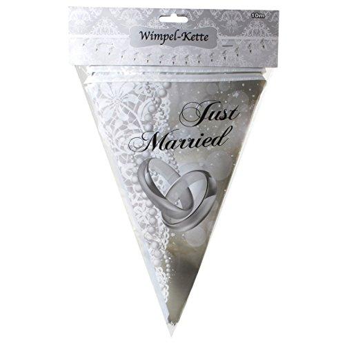 Just Married 10 Meter Wimpelkette Hochzeit Girlande Hochzeit Deko Wimpel US48