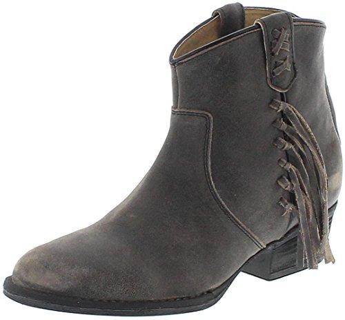 Mezcalero Shoes 2018 Marian Negro Lederstiefelette für Damen Schwarz Fashion Stiefelette, Groesse:38