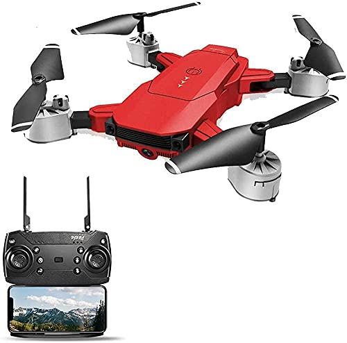 GAOFQ Drone GPS Pieghevole con Fotocamera FHD 1080P Tempo di Volo di 20 Minuti Quadcopter con Motore Senza spazzole Ritorno Automatico a casa Seguimi Distanza di Controllo Lunga per Adulti (Rosso)