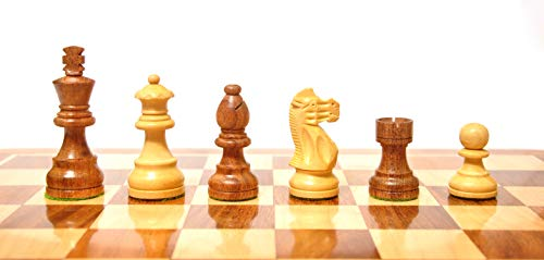 Palm Royal Handicrafts 3' Wooden Chess Pieces for Wooden Chess Board - Size 3 inch King Made with Sheesham Wood