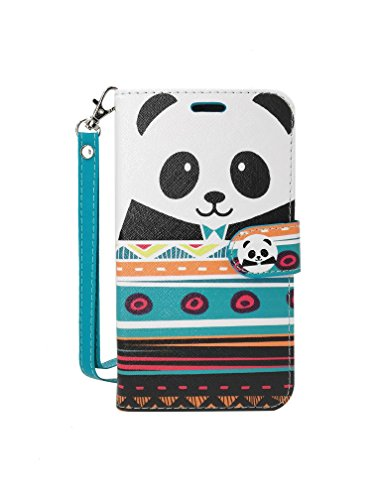 ZTE Blade V8 Pro Case, Customerfirst Flip Wallet Case Premium PU Leather Back Cover [Card Slots] [Stand] Folio Cover for ZTE Blade V8 Pro (Panda)