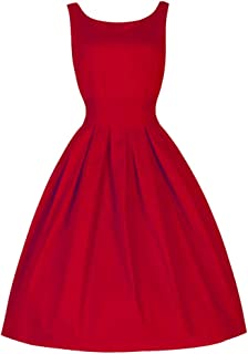 es Vintage Style 50'S Swing Retro Housewife Party Rockabilly Evening A-line Dress
