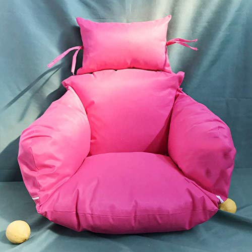 MSM Furniture Thick Nest Single Basket Hanging Egg Hammock Chair Cushion Removable Washable Universal Cradle Cushion,swing Chair Cushion Pink4