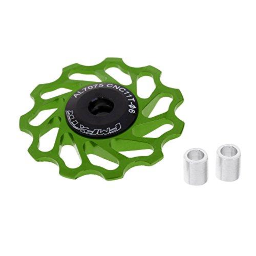 Sharplace Kit de Rueda Jockey con Cojinete de Cerámica Rodamientos Accesorio Bicicleta de Carretera MTB Mecanizada - Verde