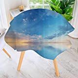 Mokale Table Decoration Durable- Inside Out Sky and Sea Looks Like Combined in