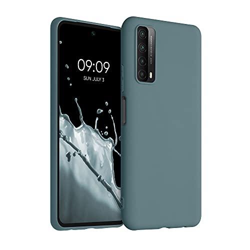 kwmobile Hülle kompatibel mit Huawei P Smart (2021) - Hülle Silikon - Soft Handyhülle - Handy Hülle in Arctic Blue