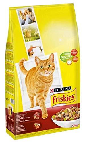 Friskies Chats Dry Friskies Cat Adult Rind Huhn 1,5 kg (3er-Pack) 1